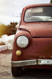 Troep Fiat 500 auto Stock Fotografie