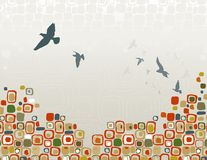 Troep van het Silhouet van Vogels royalty-vrije illustratie