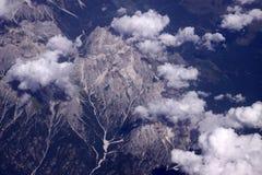 Troepen van witte wolken stock afbeelding