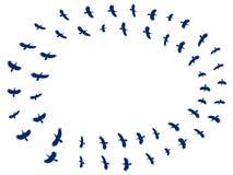 Troepvogels Silhouetten van vogels op een witte achtergrond Vector royalty-vrije illustratie