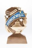 Trofé för hederrulle royaltyfria foton