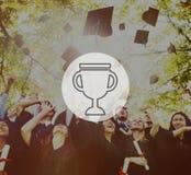 Trofébelöningpris Victory Success Achievement Concept Arkivbilder
