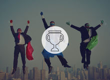 Trofébelöningpris Victory Success Achievement Concept Arkivfoto