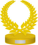 Troféu da grinalda do louro Fotos de Stock