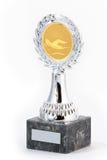 Troféu da natação fotografia de stock