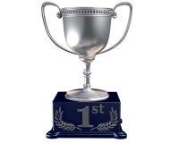 Troféu de prata para vir primeiramente Fotos de Stock