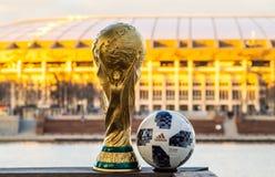 Troféu do campeonato do mundo de FIFA imagem de stock royalty free