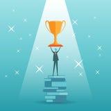 Troféu do conhecimento Fotografia de Stock