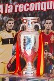 Troféu do euro do UEFA foto de stock royalty free
