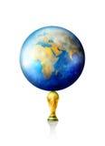 Troféu do futebol do copo de mundo Fotografia de Stock