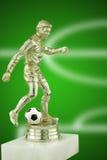 Troféu do jogador de futebol imagem de stock royalty free