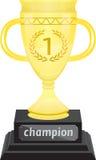 Troféu dourado Imagem de Stock Royalty Free