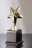 Troféu dourado fotos de stock royalty free