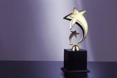 Troféu dourado fotografia de stock royalty free