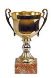 Troféu isolado no branco Foto de Stock Royalty Free