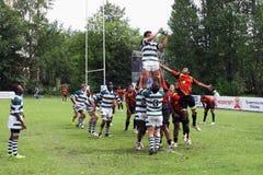 Troféu júnior do rugby do mundo de IRB Imagem de Stock