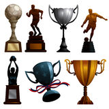 Troféus do esporte Fotografia de Stock Royalty Free
