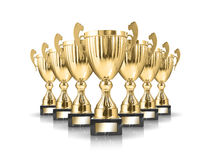Troféus dourados Fotos de Stock