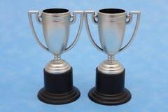 Trofeeën - win winnen situatie Stock Fotografie