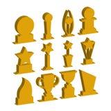 Trofeeënkoppen en uitdagingsprijzen stock illustratie