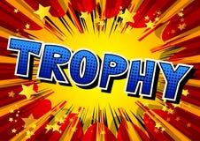Trofee - de Vector geïllustreerde grappige uitdrukking van de boekstijl royalty-vrije illustratie