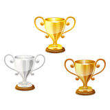 Trofee vastgestelde vector Stock Foto