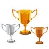 Trofee vectorreeks Stock Afbeeldingen