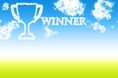 Trofee of winnaarkop Royalty-vrije Stock Afbeelding