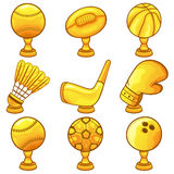 Trofeepictogram - Sport Royalty-vrije Stock Afbeelding