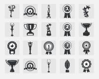 Trofeepictogrammen royalty-vrije illustratie