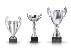 Trofei d'argento Fotografia Stock