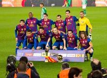Trofei di FC Barcellona Fotografie Stock Libere da Diritti