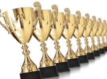 Trofei dorati Fotografia Stock