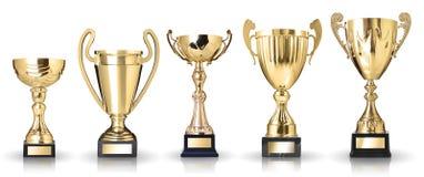 Trofei dorati Fotografie Stock