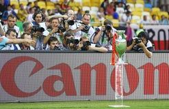Trofeo 2012 di gioco del calcio dell'EURO dell'UEFA (tazza) Fotografia Stock Libera da Diritti