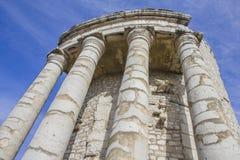 Trofeo de Augustus en el La Turbie, riviera francesa foto de archivo