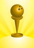 Trofeo de la bola de bowling Imagen de archivo libre de regalías