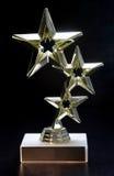 Trofeo de la estrella fotografía de archivo
