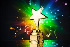 Trofeo de la estrella del oro fotografía de archivo libre de regalías