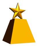 Trofeo de la estrella del oro, fondo blanco Imagen de archivo
