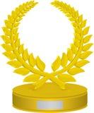 Trofeo de la guirnalda del laurel Fotos de archivo