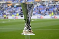 Trofeo de la liga del Europa de la UEFA Foto de archivo libre de regalías