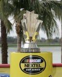 Trofeo de la taza de campeón de NASCAR fotos de archivo libres de regalías