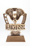 Trofeo de LaCrosse imagenes de archivo