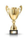 Trofeo de oro fotos de archivo