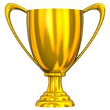 Trofeo de oro Fotografía de archivo