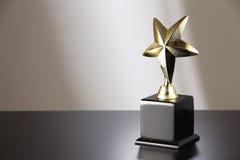 Trofeo de oro fotografía de archivo libre de regalías