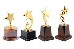 Trofeo de oro de la estrella fotografía de archivo libre de regalías