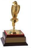 Trofeo de oro del halcón imagen de archivo libre de regalías