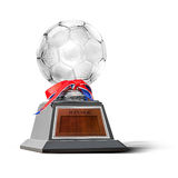 Trofeo del fútbol imágenes de archivo libres de regalías